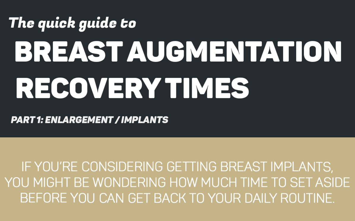 The quick guide to breast augmentation and recovery times